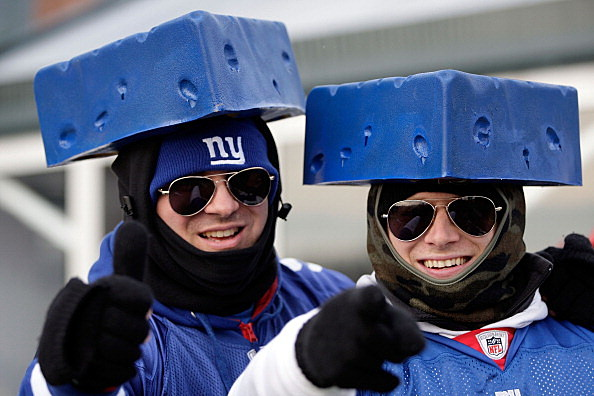Giants blue cheese heads
