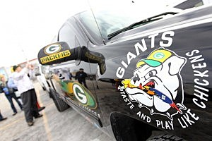 Packer fan's truck