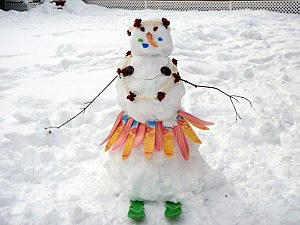 Snowman in Lacey