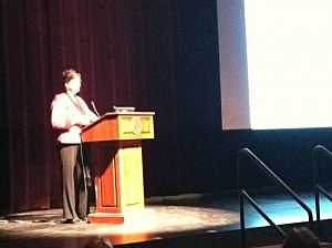 Leslie Terjesen with the Leslie Terjesen with the Ocean County Health Department leads a segment of the day long talk