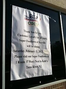 Foodtown Closed