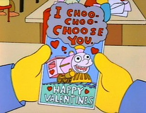 Simpsons Valentine's Day card