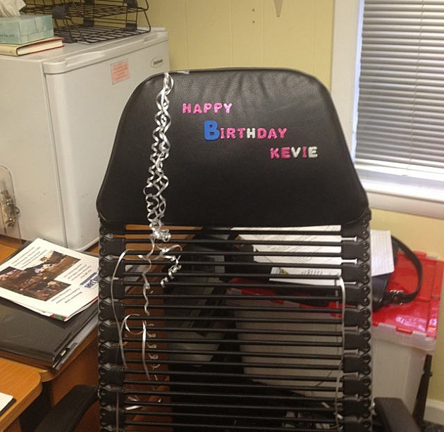 Kevin Williams birthday chair