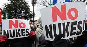 Anti Nuclear Protestors, by Toru Yamanaka, Getty Images