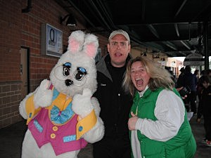 Shawn & Sue with the Easter Bunny