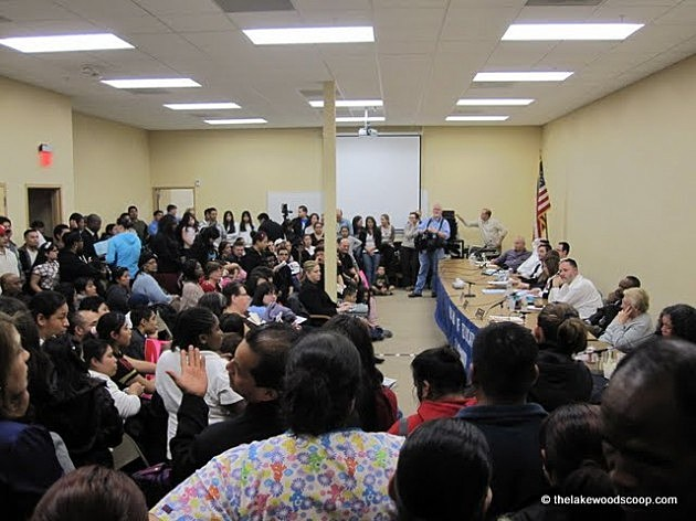 Parents fill the Lakewood school board meeting