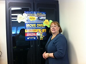Move Over Awareness Campaign Chair Donna Setaro of Lacey Township