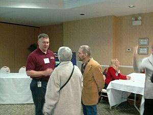 Jeffery Kulp, NRC Senior Resident Inspector at Oyster Creek speaking with residents