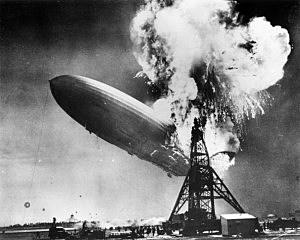 The Hindenburg disaster at Lakehurst