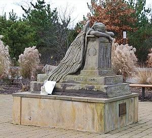 Angel In Anguish 9/11 memorial in Brick