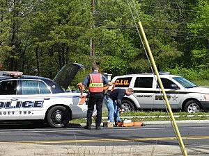 Police investigate Thursday morning's accident on Route 9
