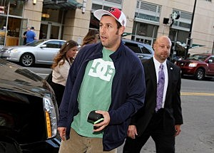 dam Sandler attends the That's My Boy Boston Premiere at Regal Fenway Theater