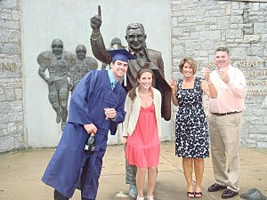 Kevin Williams and family celebrate son Brandon's graduation from Penn State in 2008