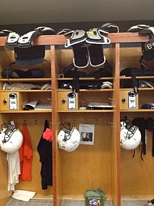 Glenn Carson's locker at Penn State