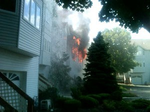 Fire on Musketflower Court in Toms River