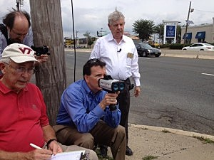Assemblyman Declan O'Scanlon tests the timing of red light cameras