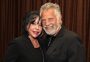 Jonathan Goldsmith (R) and his wife Barbara