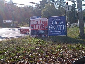Campaign signs in Jackson