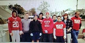 Point Pleasant football team helps out
