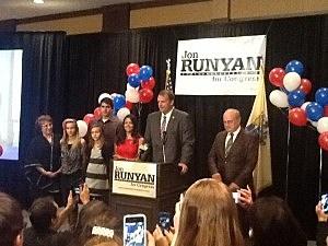 Representative Jon Runyan on election night