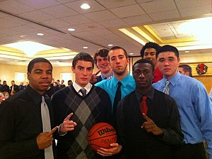 Top seeded Toms River North boys team at WOBM Christmas Classic breakfast