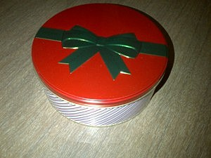 A tin of holiday treats