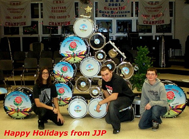 Jackson Memorial High School Jaguar Marching Band Christmas card