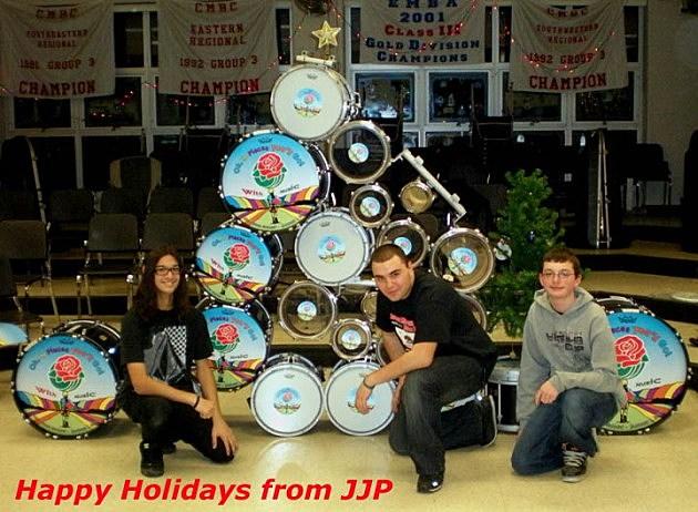 Jackson Memorial High School Jaguar Marching Band Christmas card