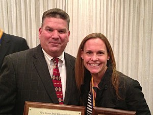 Kevin Willliams with Olympian Christine Rampone (Ed Sarluca, Townsquare Media NJ)