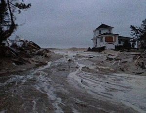 Mantoloking dunes breached following Christmas storm