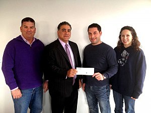 (L-R) Kevin Williams, Vinnie Brunetti, Michael Schwartz & Jen Barna of Hometown Heroes