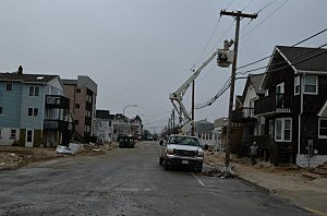 Utility crew in Seaside Heights