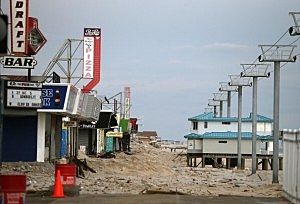 The damaged boardwalk removed from Seaside Heights