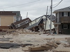 Home in Brick damaged by Sandy