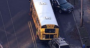 Jackson school bus accident on Diamond Road