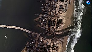 Aerial view of Mantoloking after Sandy