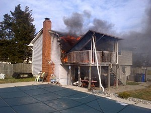 Fire in home on Suburban Drive in Toms River