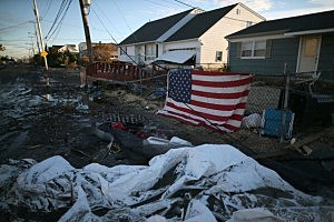 Homes in Toms River damaged by Sandy