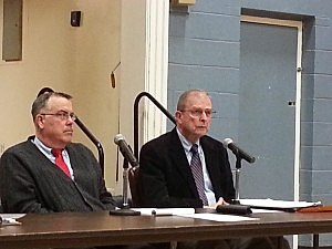 Avon mayor Robert mahon (r) and commissioner Frank Gorman