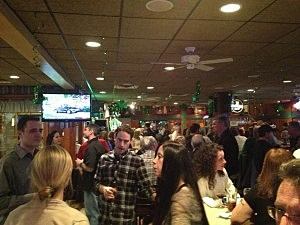 Crowd at Seaside Heights for Jersey Shore Island Home Coming Party at Klee's in Seaside Heights