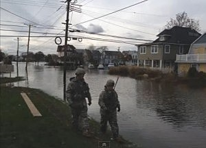 Flooding in Belmar from Superstorm Sandy