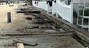 Damage in Ocean Gate from Sandy