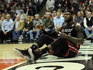 LeBron James of the Miami Heat