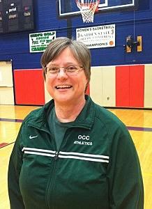 Ocean County College women's basketball team head coact Dana Kovich