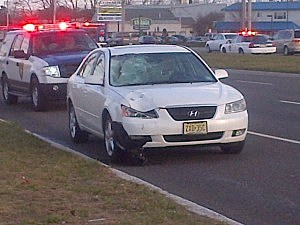 Car involved in Thursday's accident