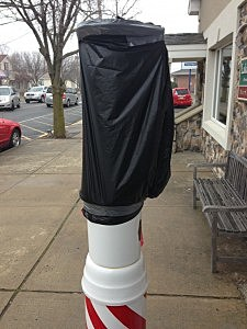 Barber shop pole attacked in Lakehurst