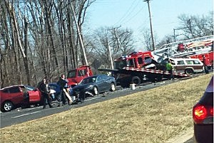 Accident scene on Route 9 in Freehold