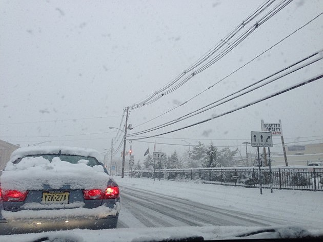 Snow on in Toms River
