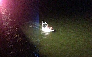 Toms River Police boat during rescue