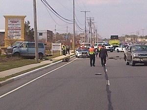 Investigators at Fatal Three-Car Crash in Toms River (Toms River PD)